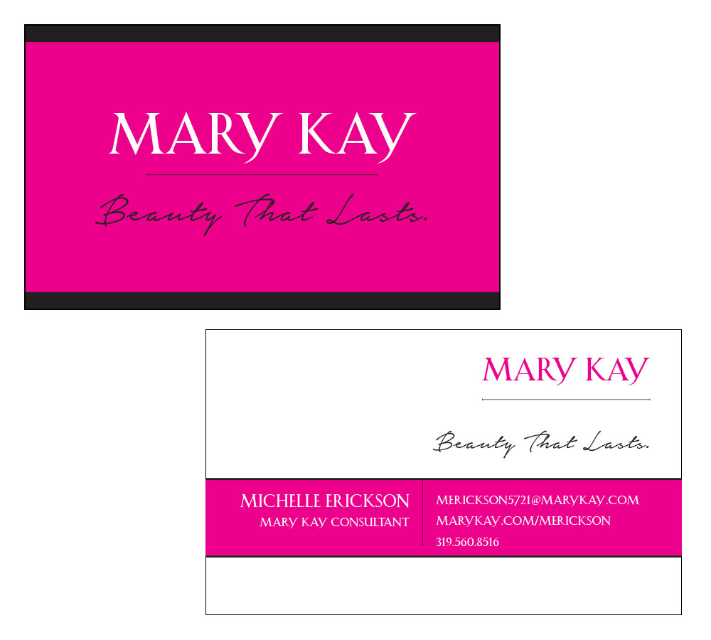 Mary Kay Business Card Template Gallery - Templates Example Free ...